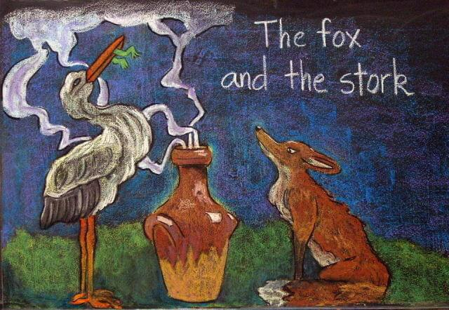 fox and stork